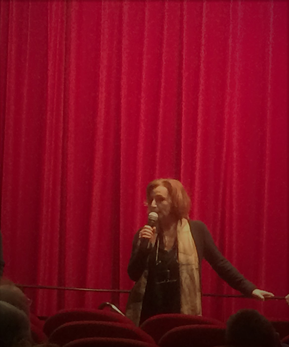 Inga Lavolé-Khavkina faisant un discours pour l'association Art et Prison France