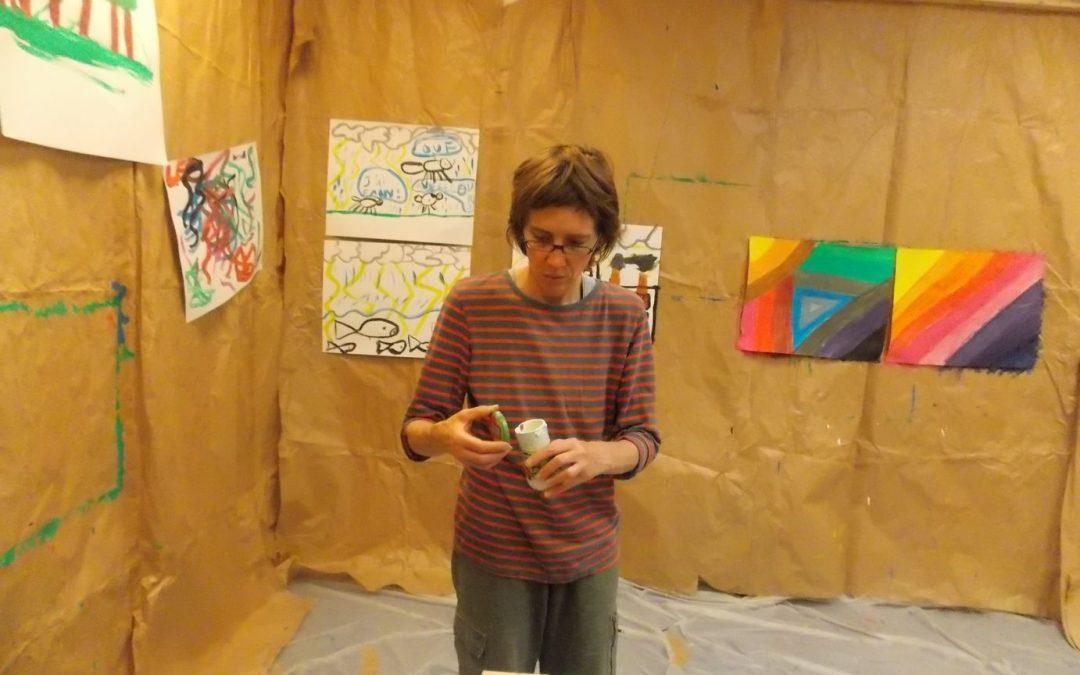 Hélène Bascoul une artiste à la maison d'arrêt de Brest